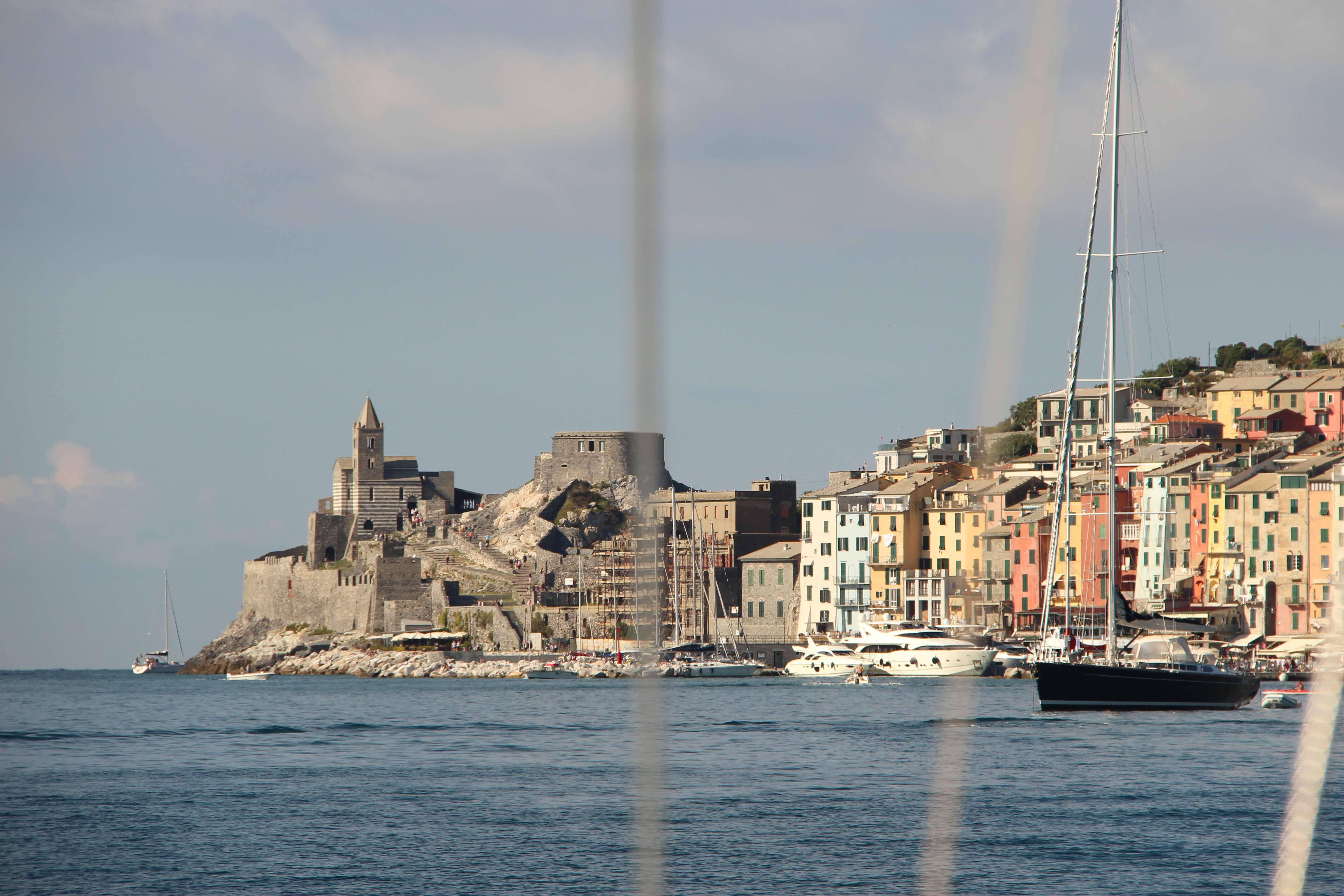 Sailing in the Gulf of Poets on the Italian Riviera
