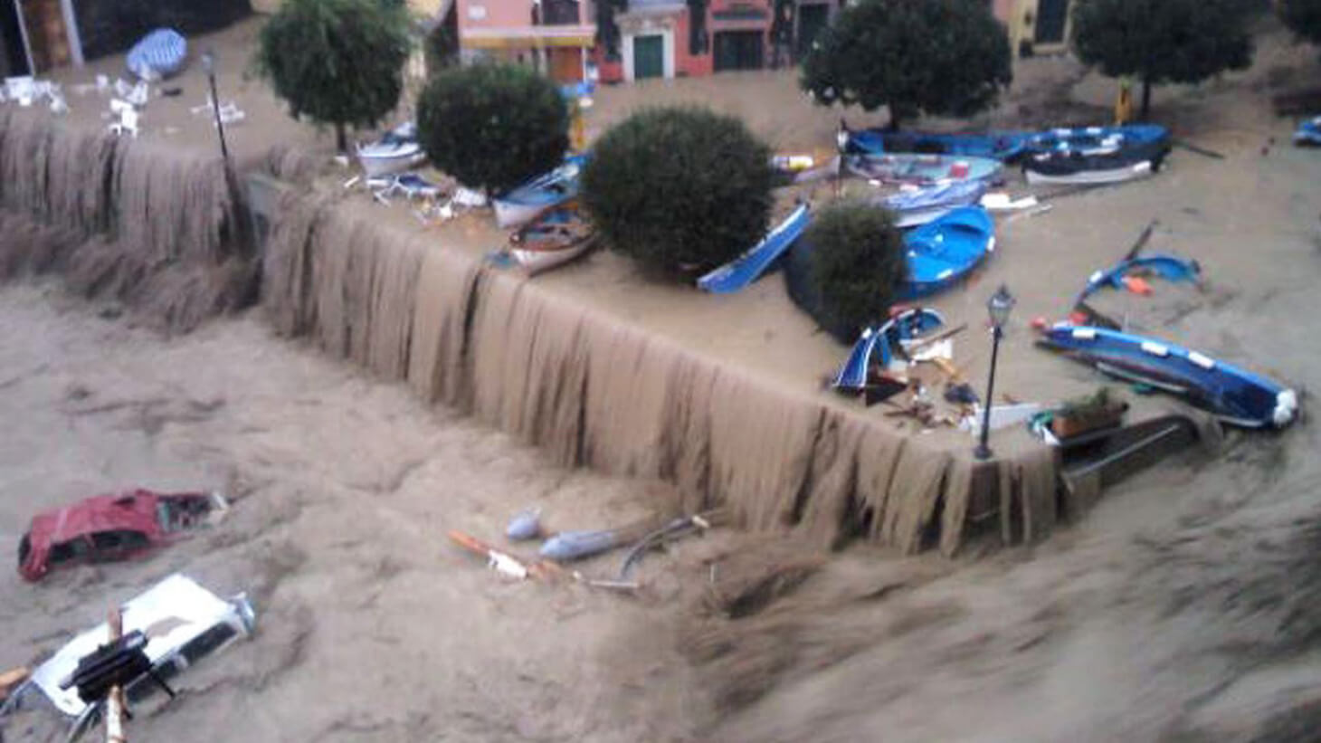 The flood that devastated Vernazza in 2011